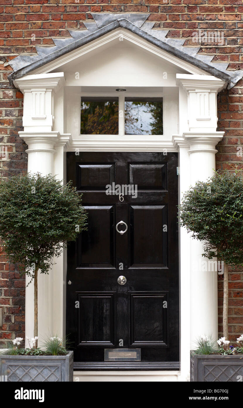 Old black front door, London Stock Photo, Royalty Free Image ...