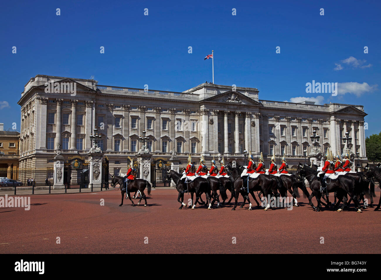 Horse Guards in Trooping the Colour, Buckingham Palace ...  Horse Guards in...