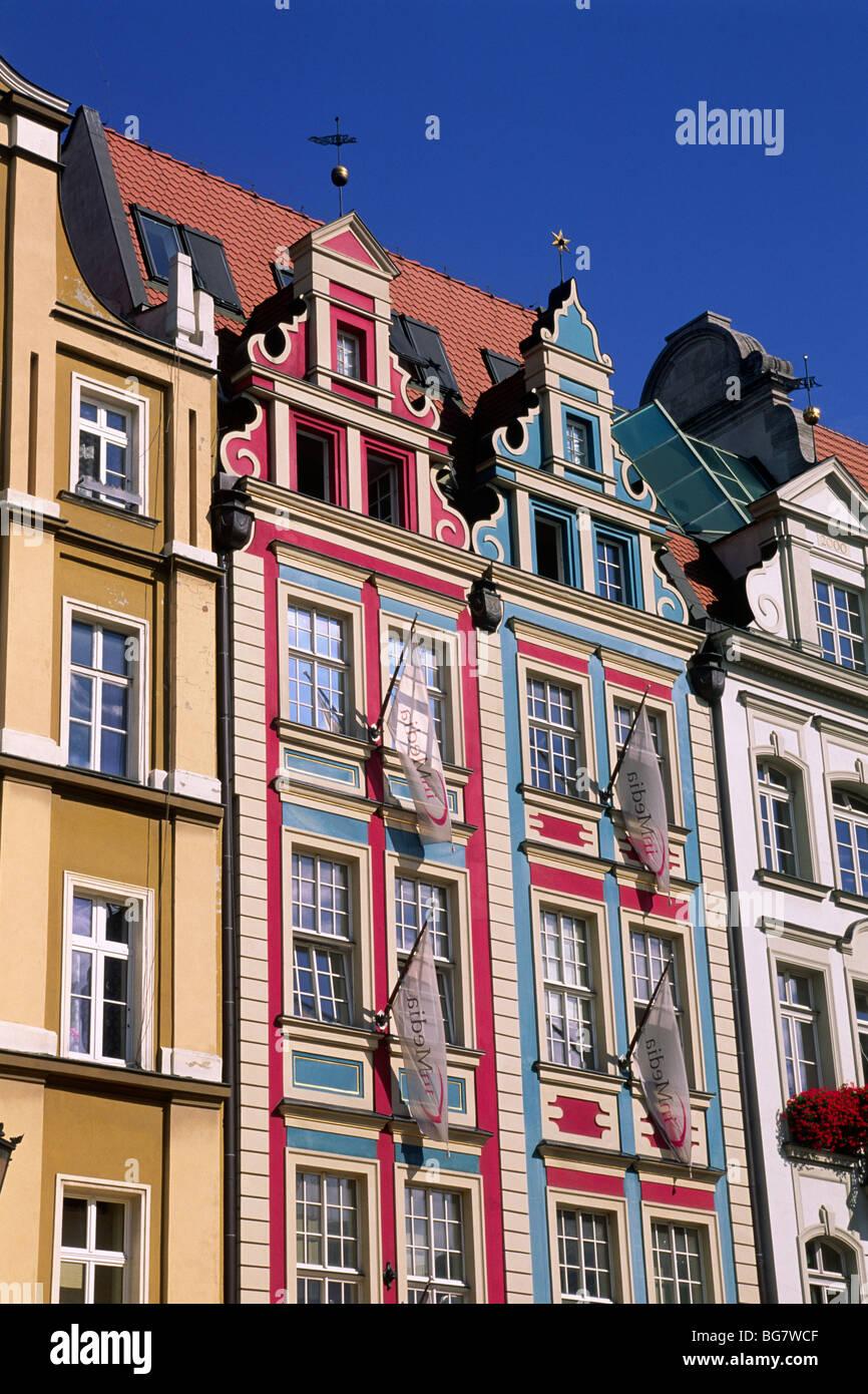 Poland Wroclaw Rynek Houses Stock Photo Royalty Free