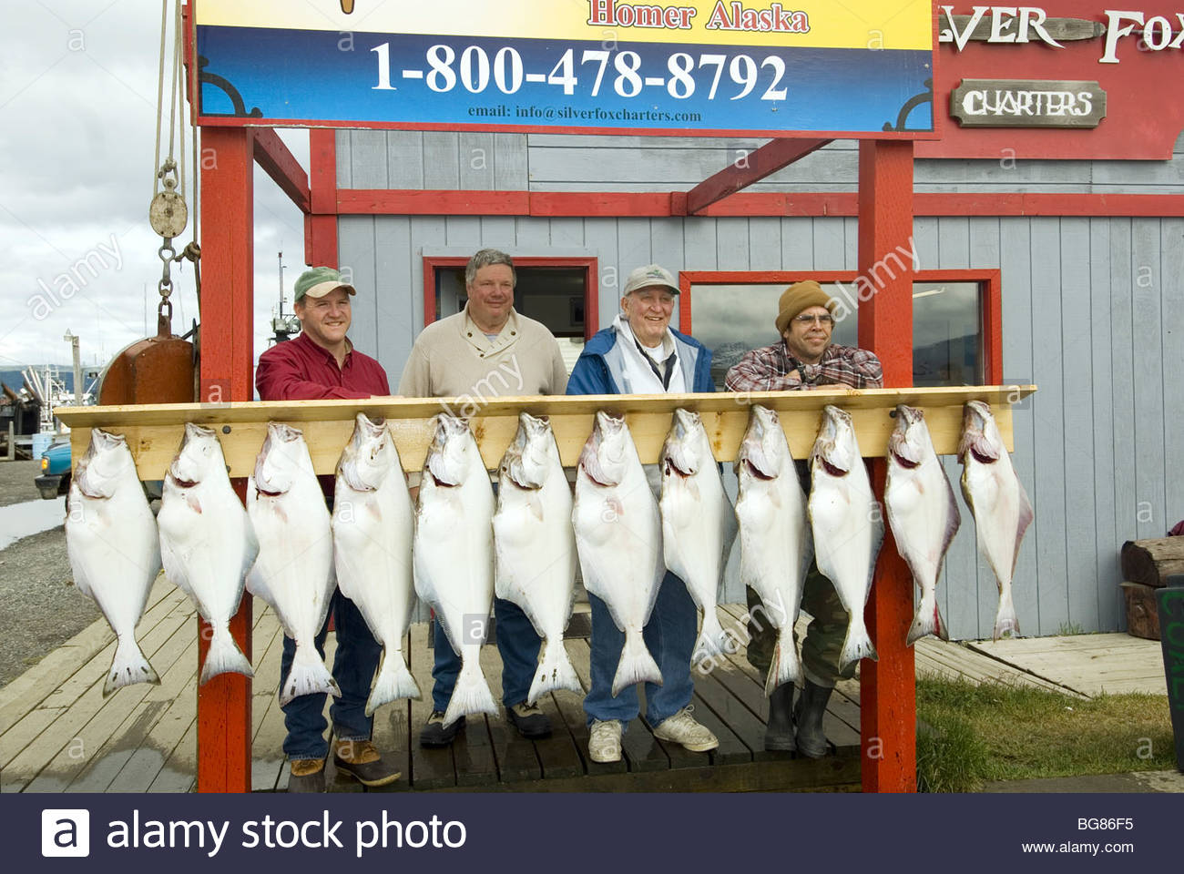 Alaska homer halibut fishing fisherman with catch of the for Halibut fishing homer