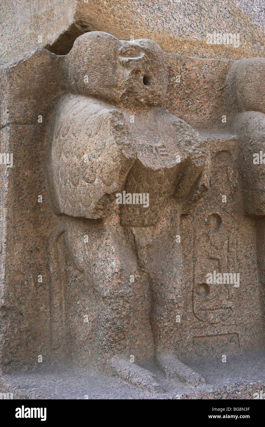Mandrill carved into the base of obelisk ramses ii