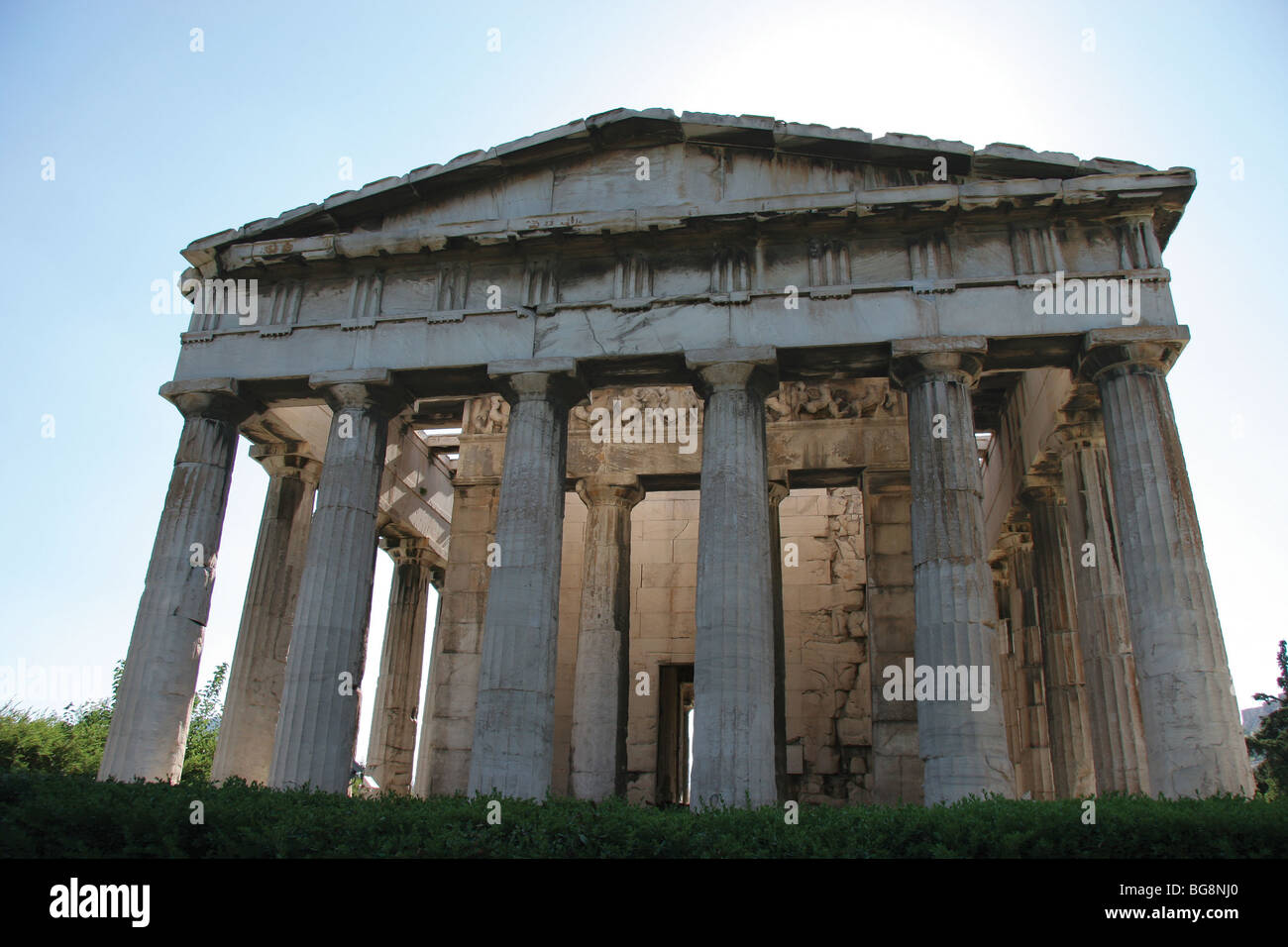 Temple of Hephaestus or Theseion. Agora of Athens. Greece ...