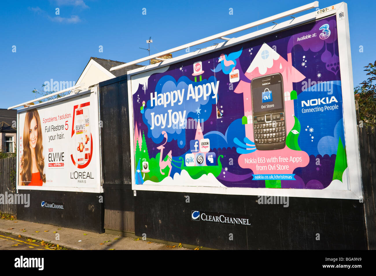 Nokia mobile phones stock photos nokia mobile phones stock clearchannel billboard site featuring poster for nokia mobile phones next to cheryl cole loreal biocorpaavc Choice Image