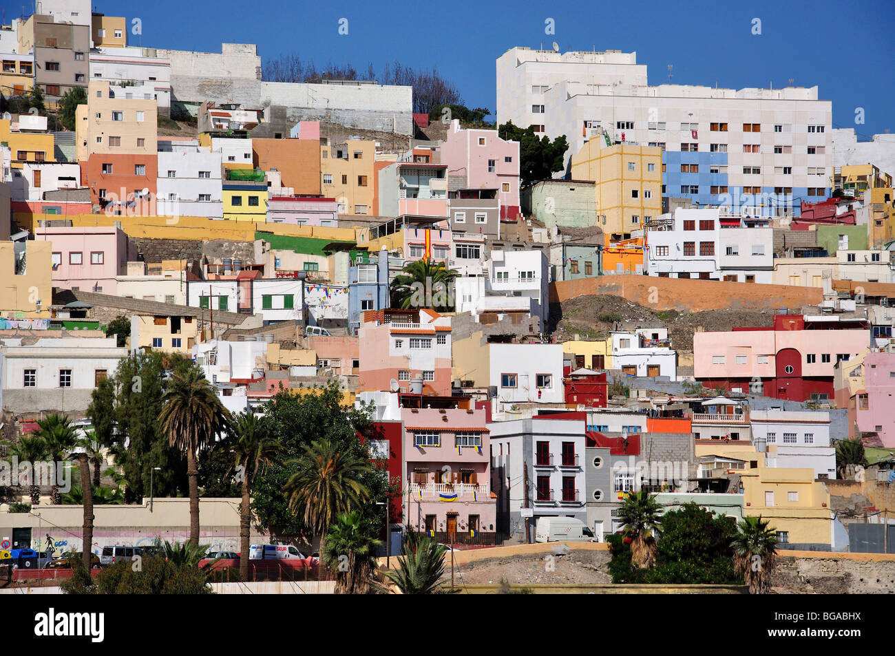 Houses on 39 painted hillside 39 barrio san nicolas las - Houses in gran canaria ...