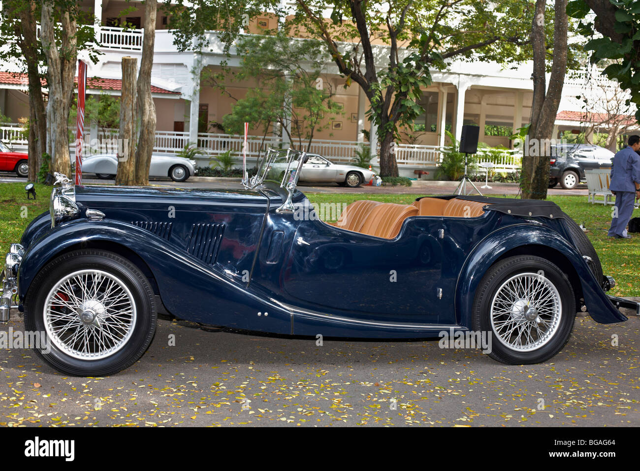 Mg tf stock photos mg tf stock images alamy classic british 1954 mg tf sports car in blue stock image vanachro Gallery