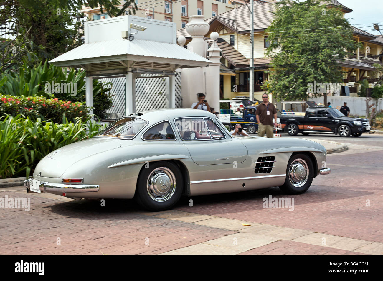 Mercedes benz 300sl gullwing vintage classic motorcar thailand s e asia stock image