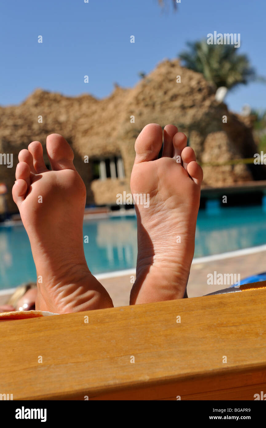 Close Up Soles Of Woman S Feet Stock Photo 27282285 Alamy