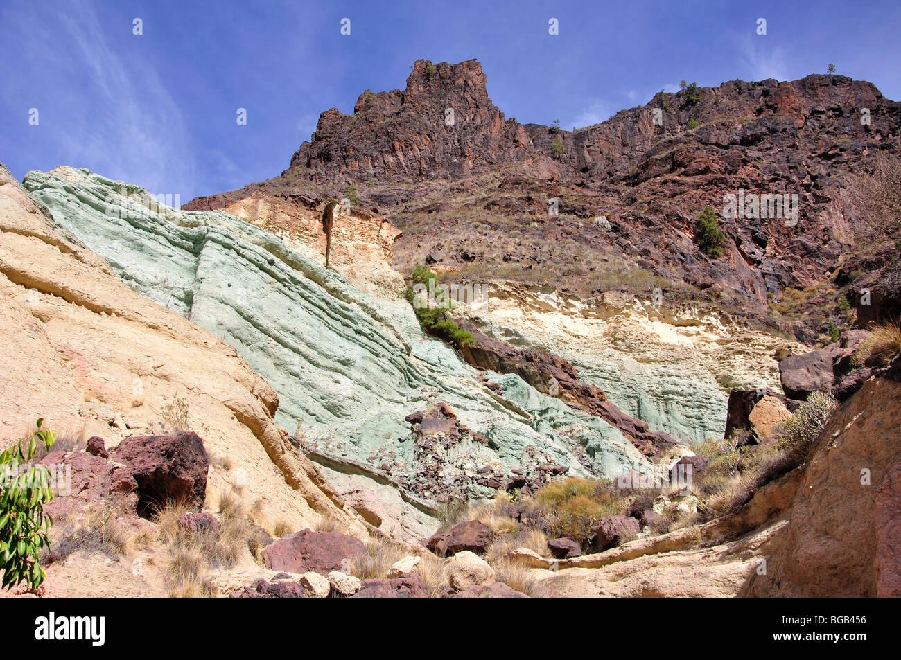Painted rock formations fuente de los azulejos la aldea for Fuente de los azulejos