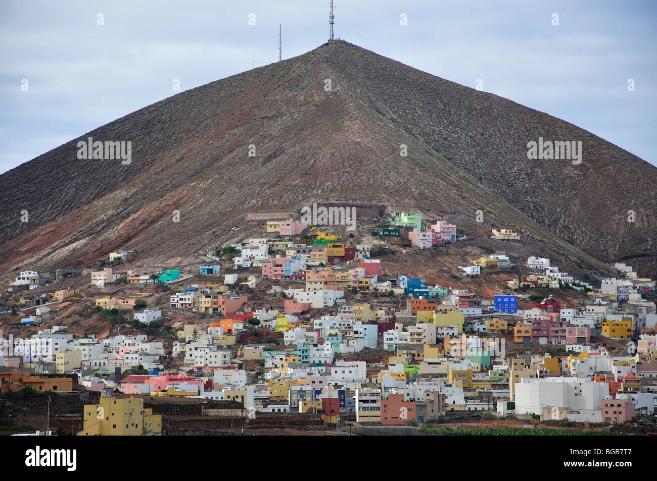 Houses on volcanic slope galdar galdar municipality - Houses in gran canaria ...