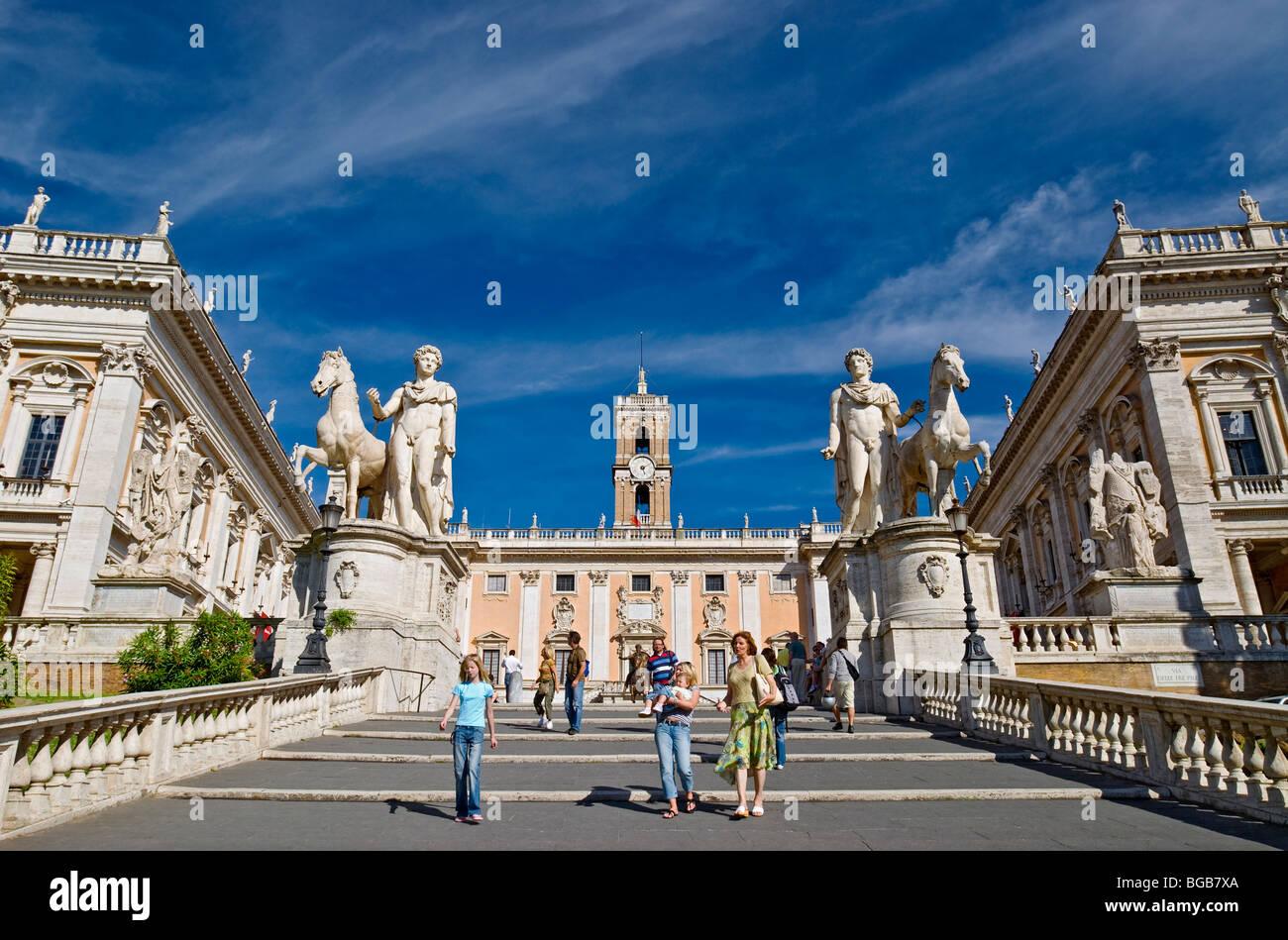 The Cordonata Stairs (1536) Leading To Piazza Del Campidoglio By  Michelangelo.