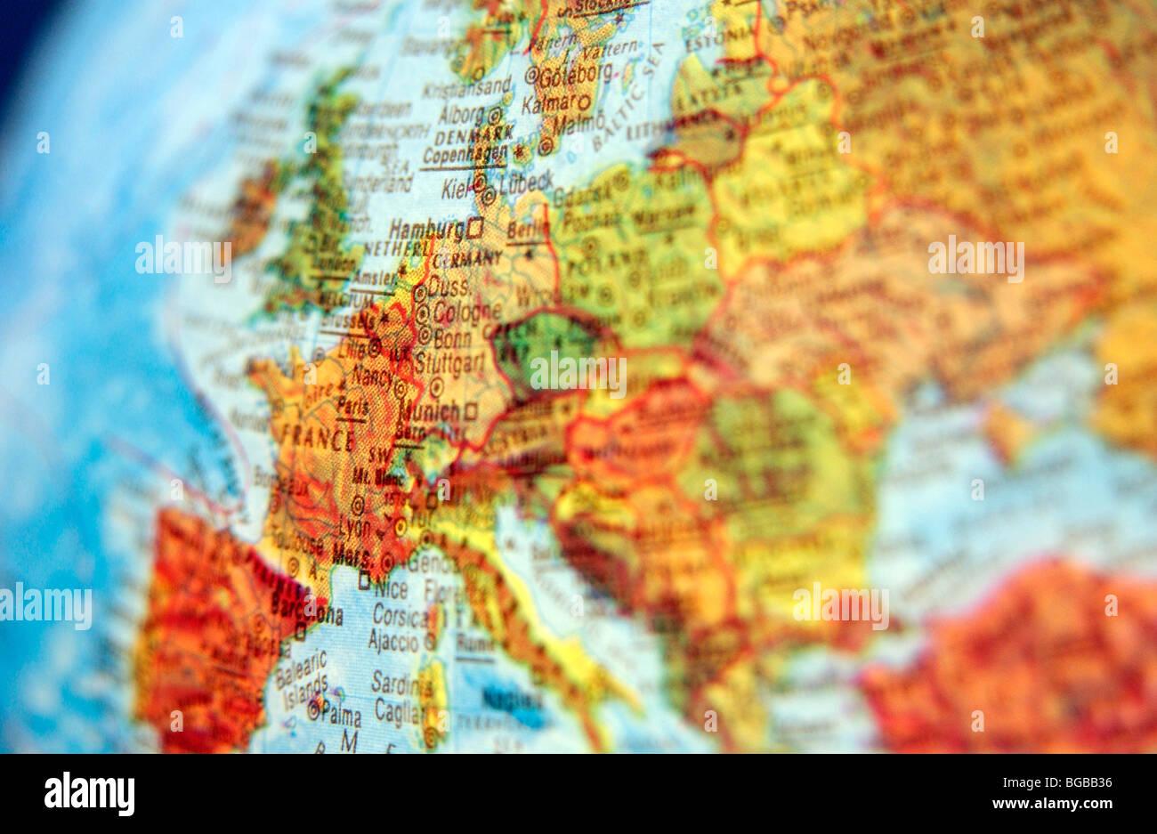 Photograph Of Map Europe Globe Eu Uk British Countries Travel – Europe and Uk Map