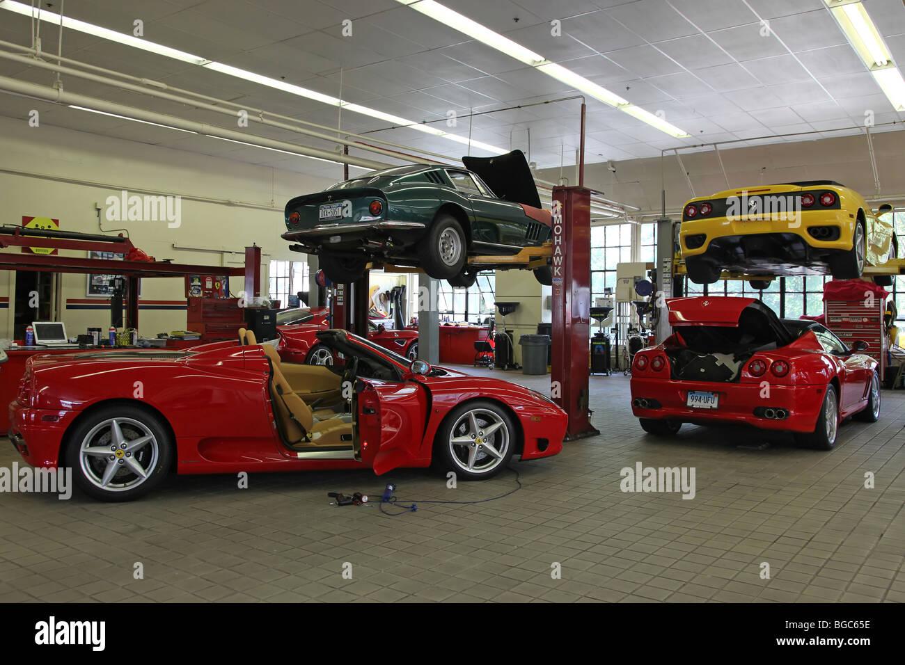 Expensive Exclusive Cars In A Garage Ferrari Porsche