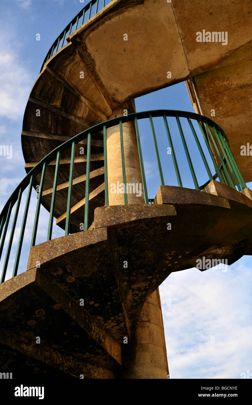 Outdoor Concrete Spiral Stairs Stock Photo Royalty Free Image 27325522 Alamy