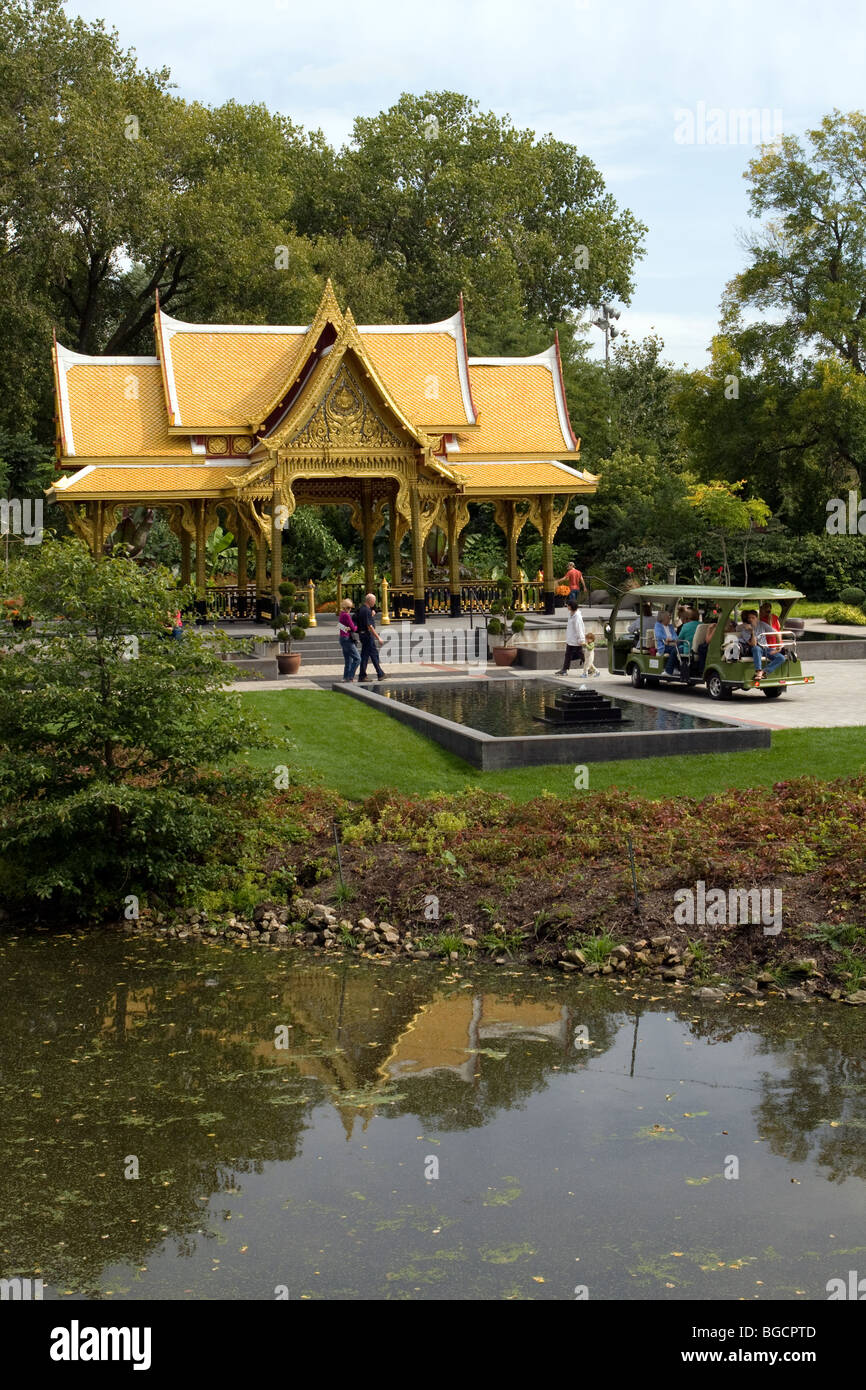 Thai Pavilion And Garden, Olbrich Botanical Gardens, Madison, Wisconsin,  USA, North America