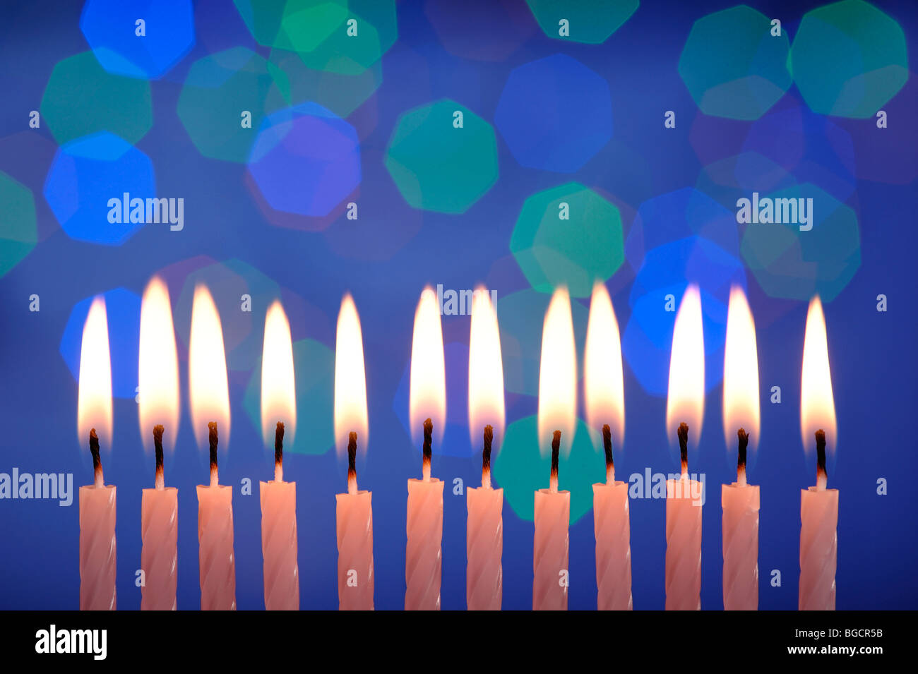 12 Birthday Candles Stock Photo Royalty Free Image