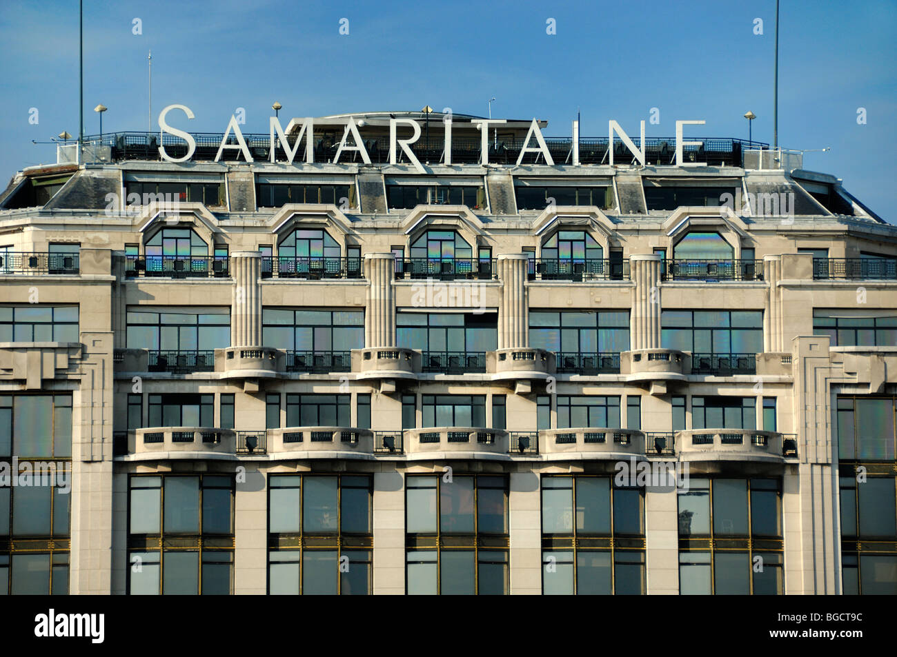 La Samaritaine Department Store, Art Deco Facade with Stone Balconies,  Paris, France