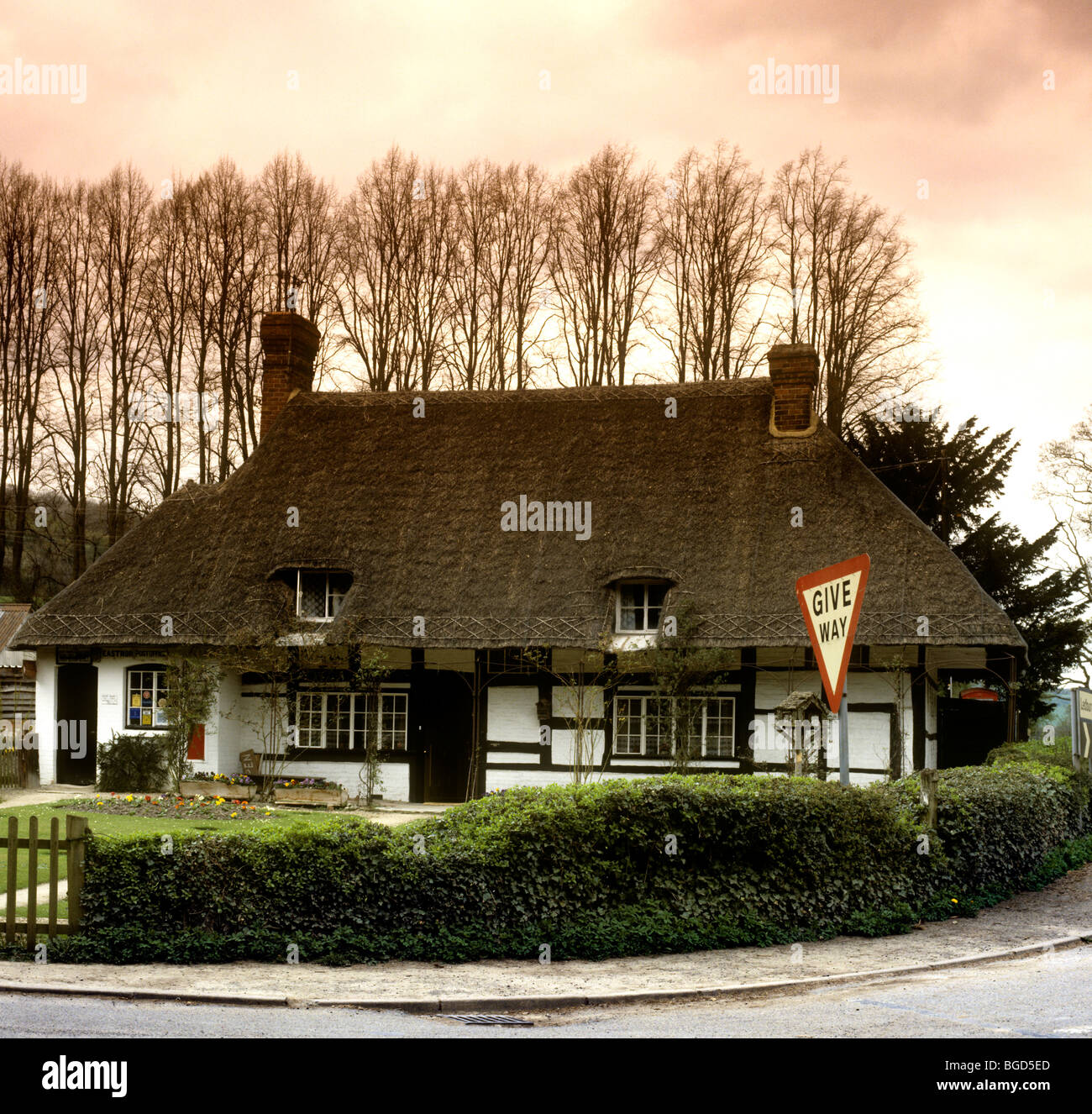 UK England Herefordshire Eastnor Rural Services Post Office In Thatched Cottage