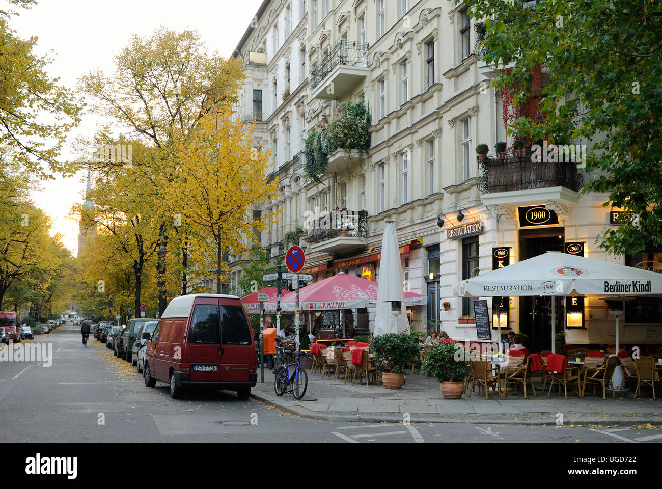 restaurant restauration 1900 at kollwitzplatz prenzlauer berg stock photo royalty free image. Black Bedroom Furniture Sets. Home Design Ideas