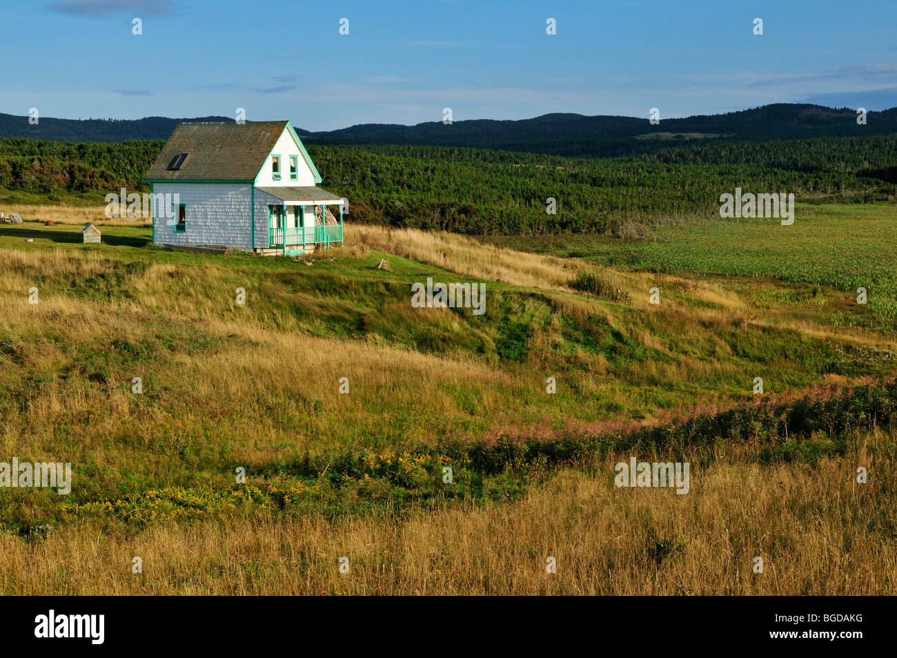 Typical Wooden House On Ile Du Havre Aubert, Iles De La Madeleine, Magdalen  Islands, Quebec Maritime, Canada, North America