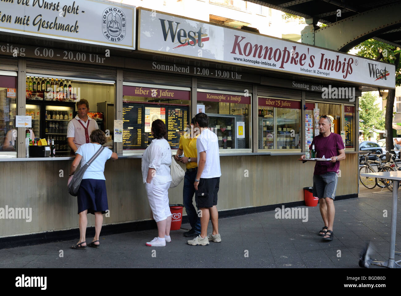 konnopke 39 s imbiss most famous and first currywurst stand schonhauser stock photo royalty free. Black Bedroom Furniture Sets. Home Design Ideas