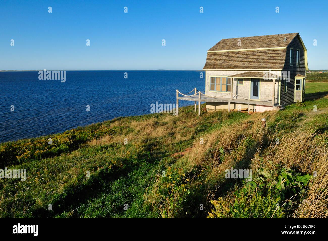 Typical wooden house on ile du havre aux maisons iles de for Achat maison la madeleine