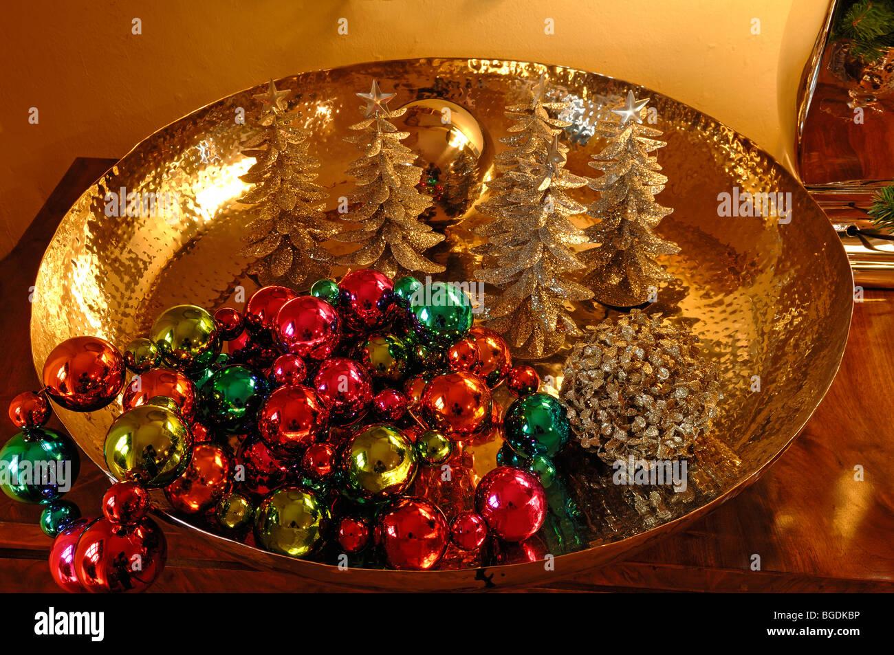 Colorful Christmas Balls And Small