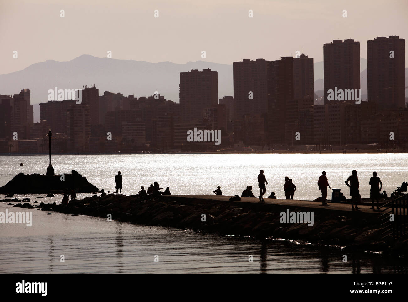 Skyline of benidorm costa blanca alicante spain europe - Stock uno alicante ...