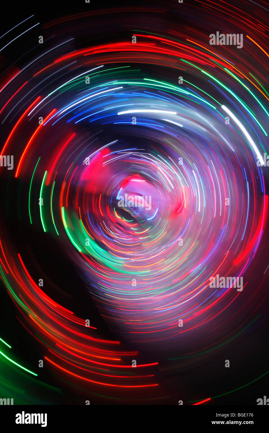 colorful string of lights labyrinth at a county fair in Germany Stock Photo, Royalty Free Image ...