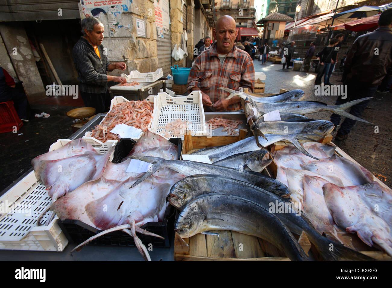 The fish market in catania sicily italy stock photo for Fish market ct