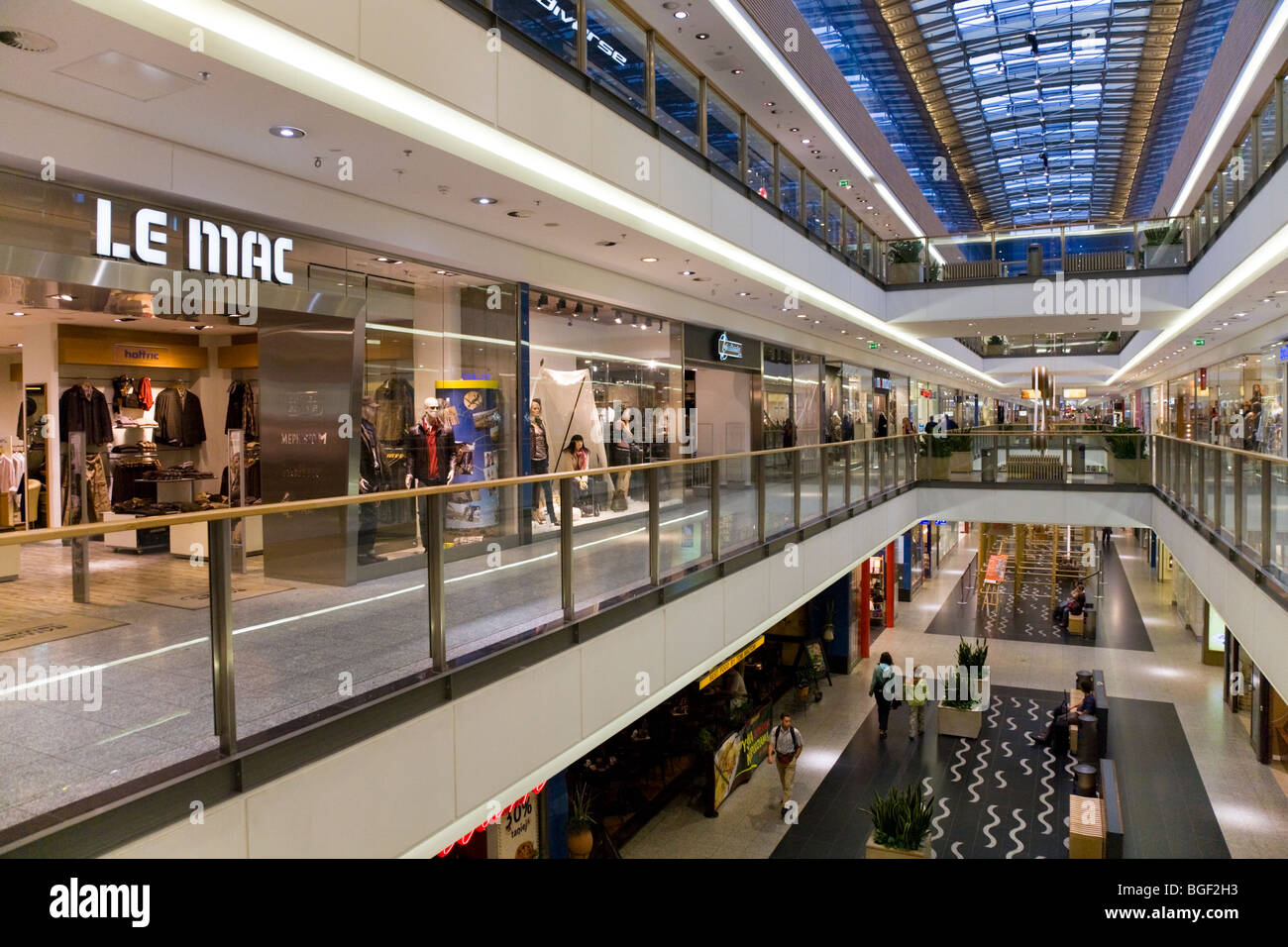 View Inside The Galeria Krakowska The Largest Shopping Mall In Stock Photo Royalty Free Image