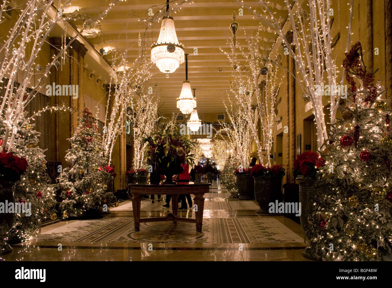 Roosevelt hotel lobby with christmas decorations and for New xmas decorations