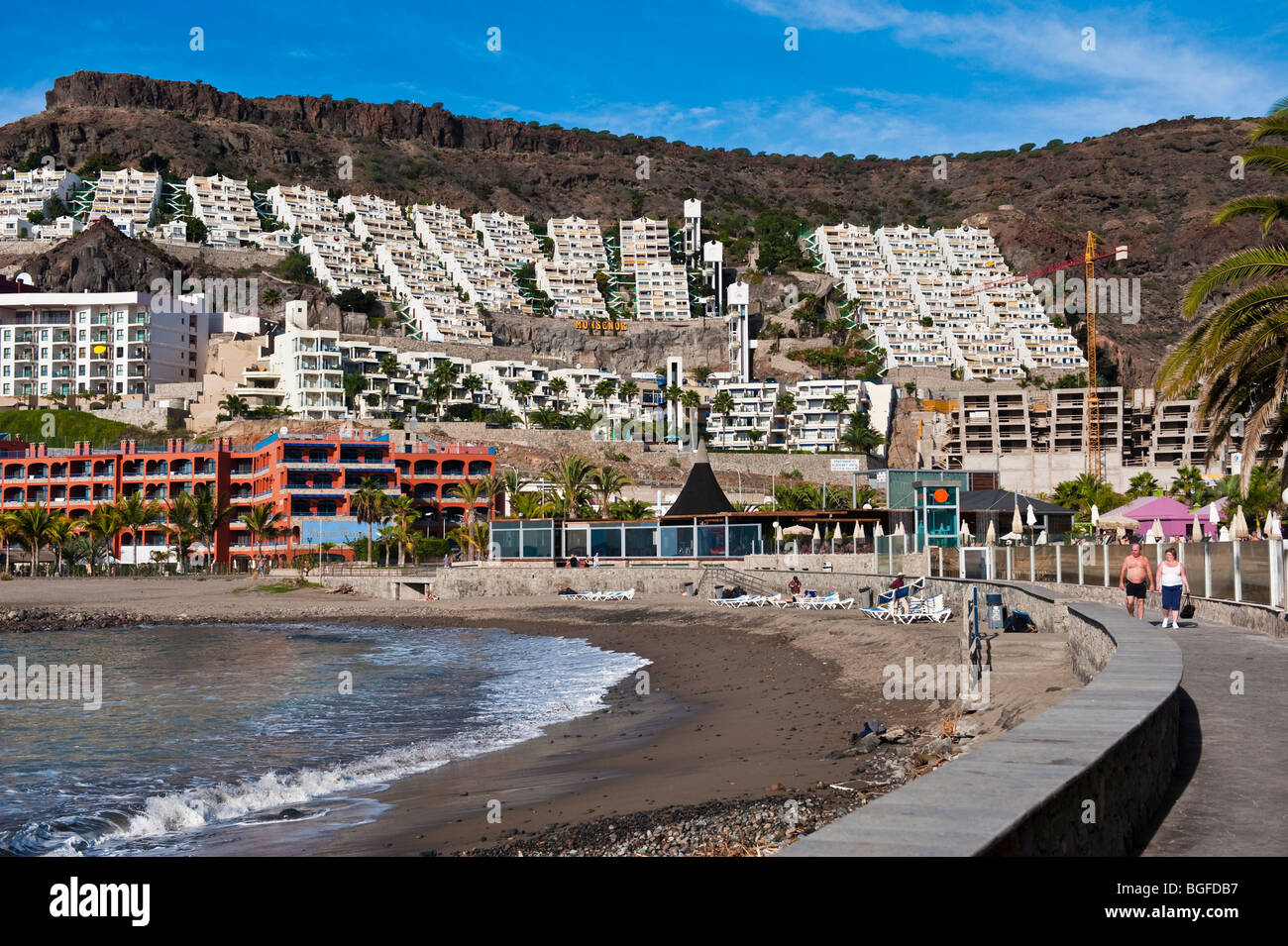 The Beach At Playa Del Cura On Gran Canaria In The Canary
