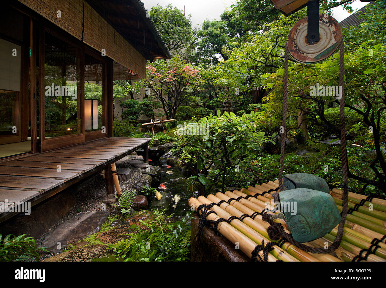 Traditional japanese gardens - Traditional Japanese Style Guest House Kyoto Japan Garden Stock