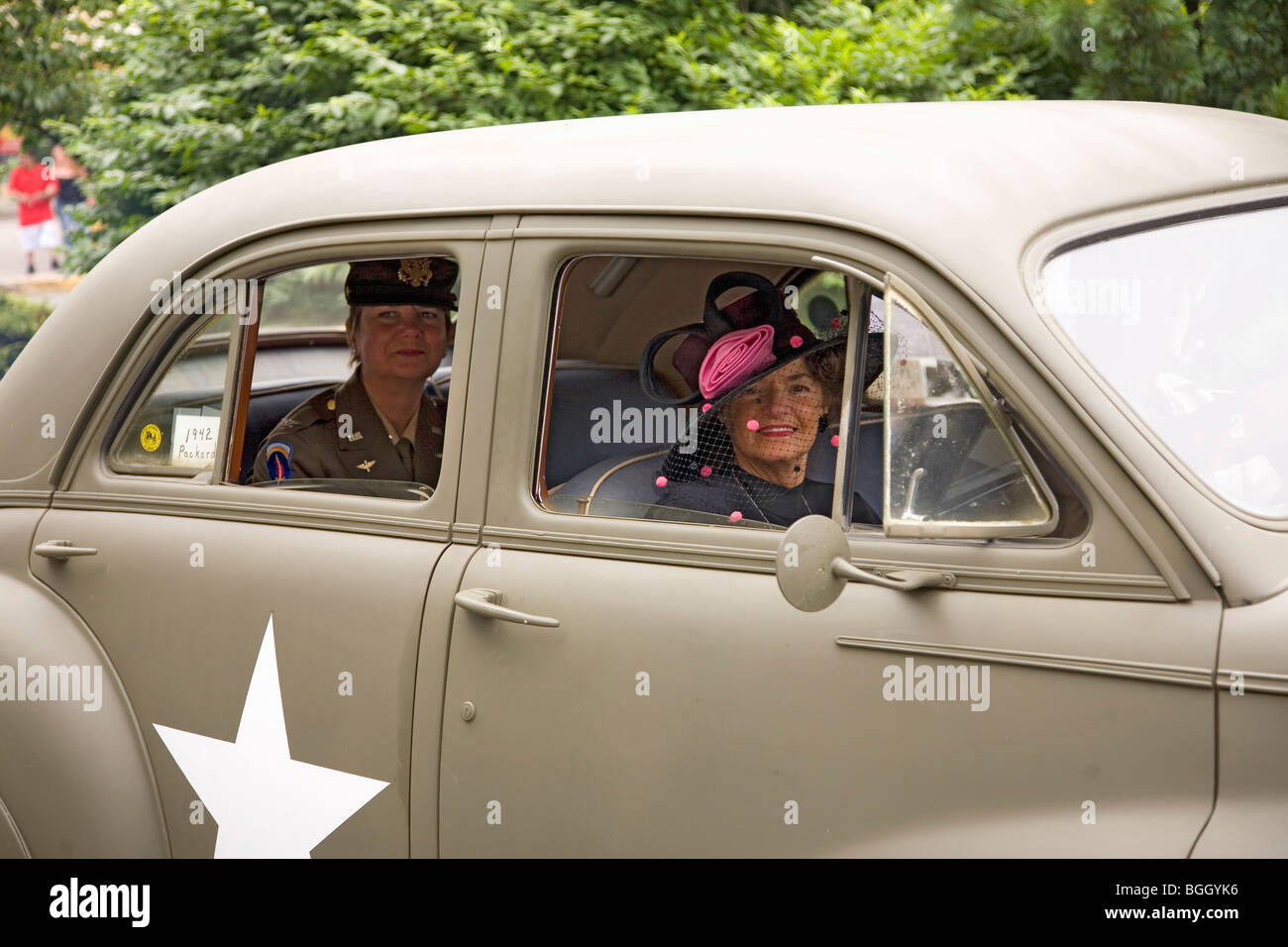 Reenactment of World War II 1940s style car in Reading, PA held ...