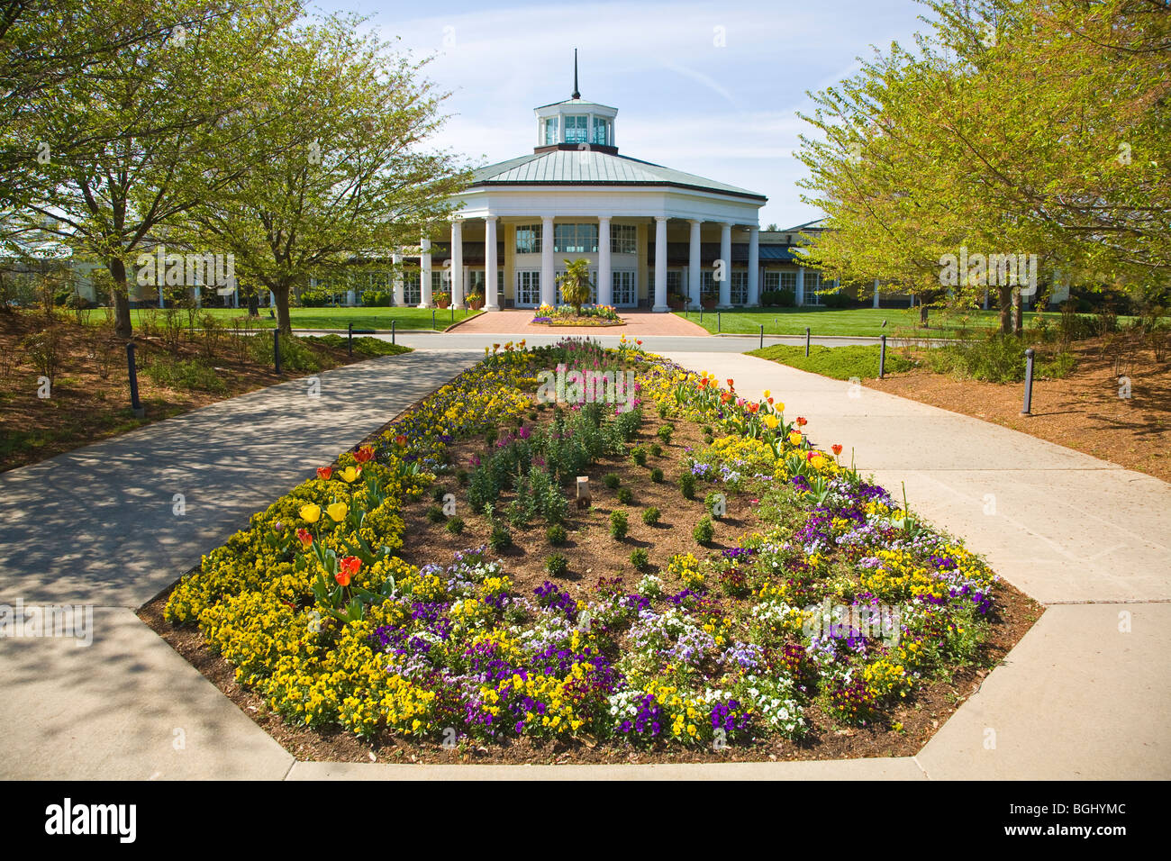Spring In Daniel Stowe Botanical Garden In Belmont North Carolina