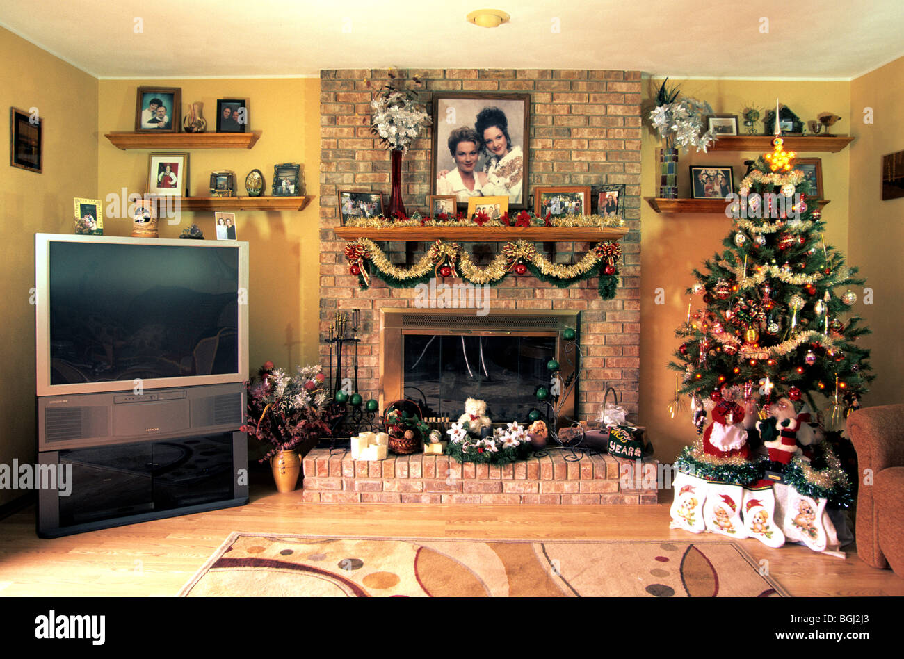 Family Room Decorated For Christmas Still Life Art Artistic