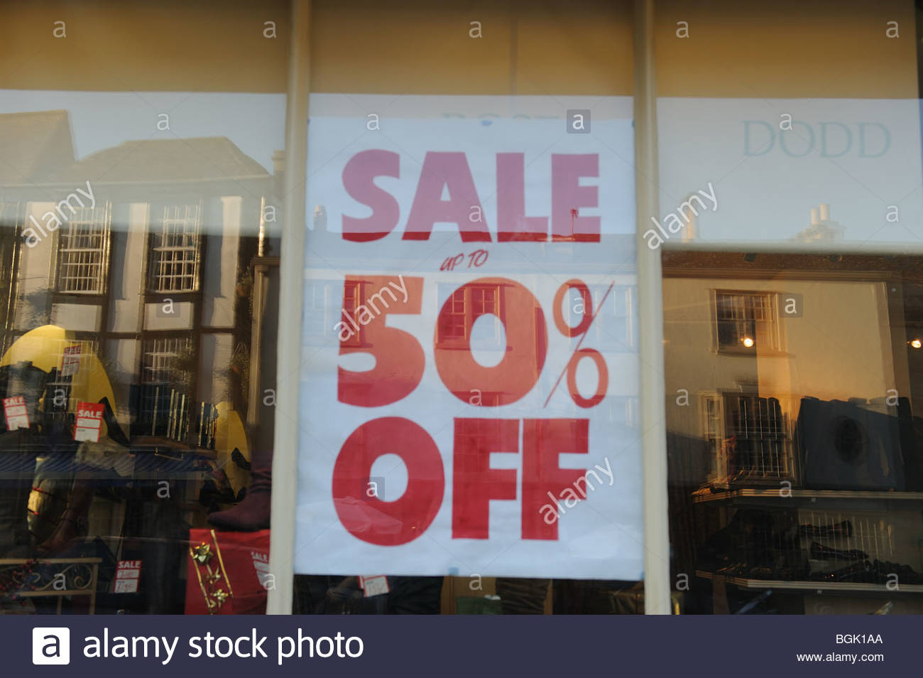 Sale sign flag room shop shops 50 25 percent off january for Living room 50 off january