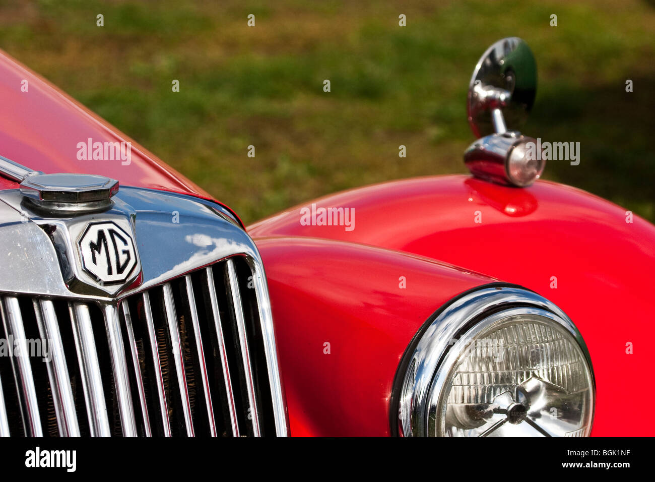 Mg Tf Classic Red Sports Car Mg Cars England Uk Stock
