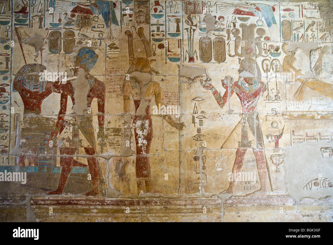 Painted decorated walls the small single chamber temple built by painted decorated walls the small single chamber temple built by tuthmose iv and amenhotep iii amipublicfo Image collections