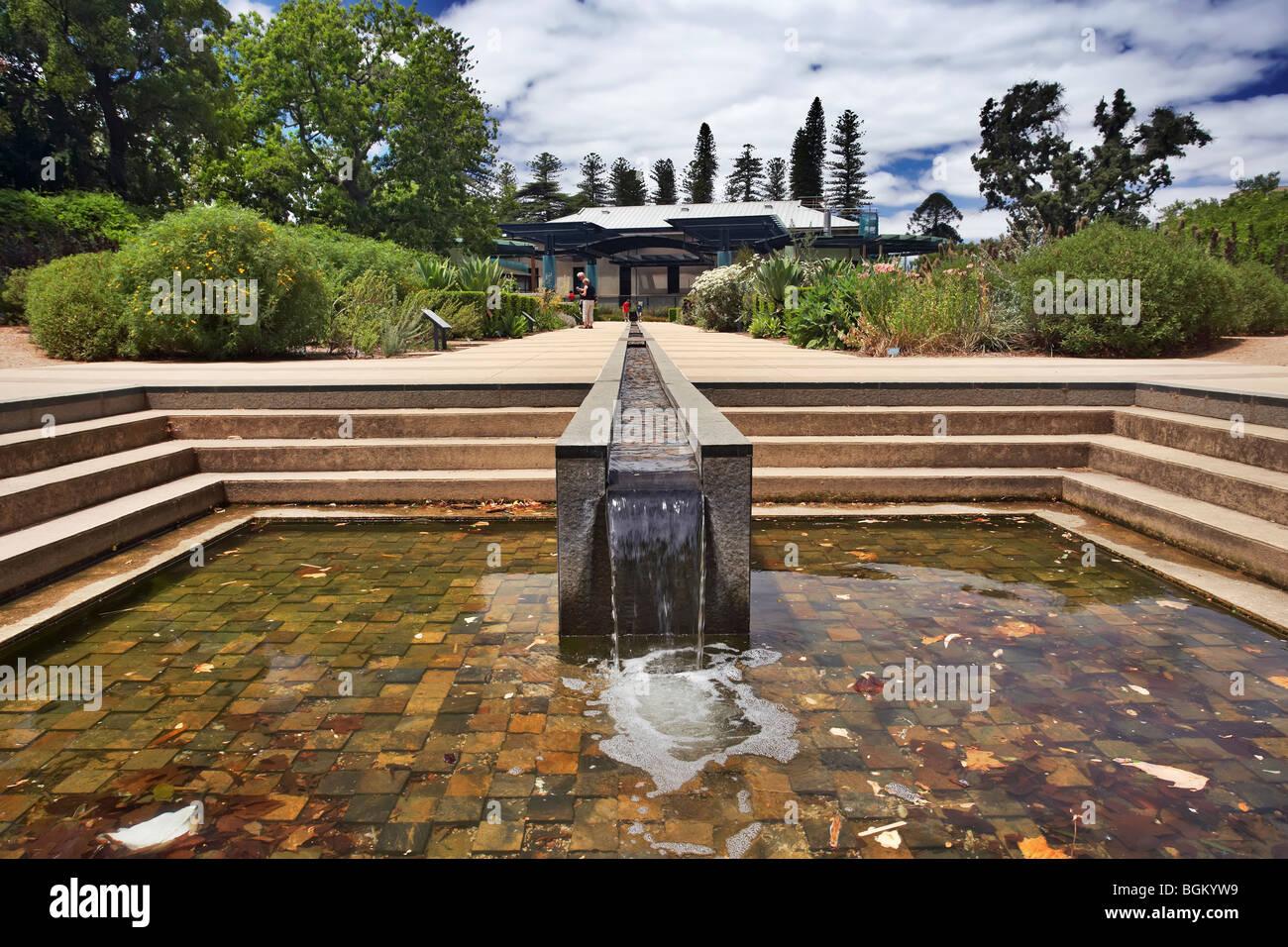 Water fountains adelaide -  Sa Water Mediterranean Garden Botanical Gardens Adelaide South Australia Stock Photo