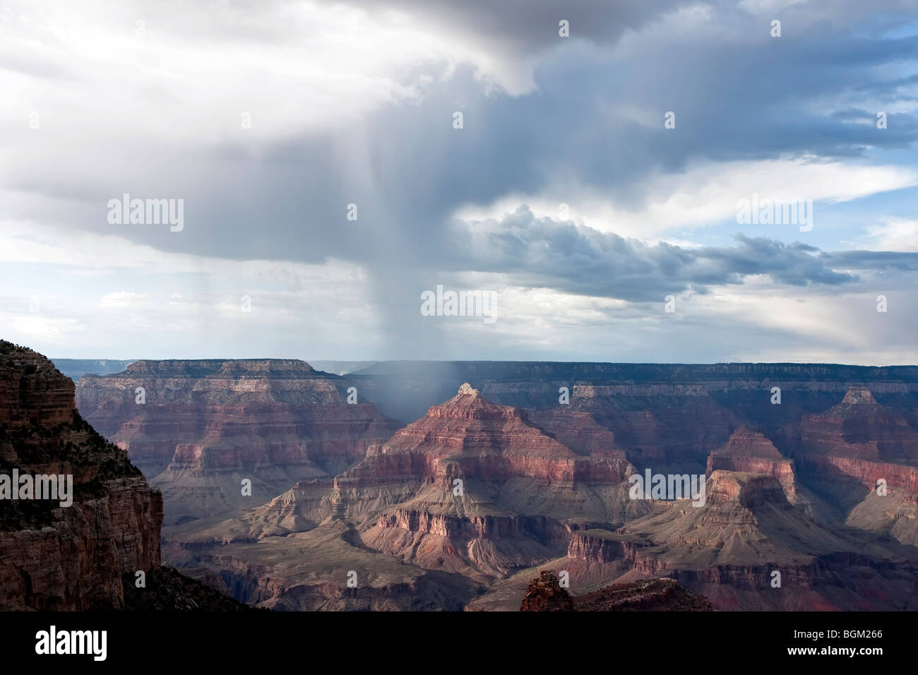 bad weather front in the grand canyon national park. Black Bedroom Furniture Sets. Home Design Ideas