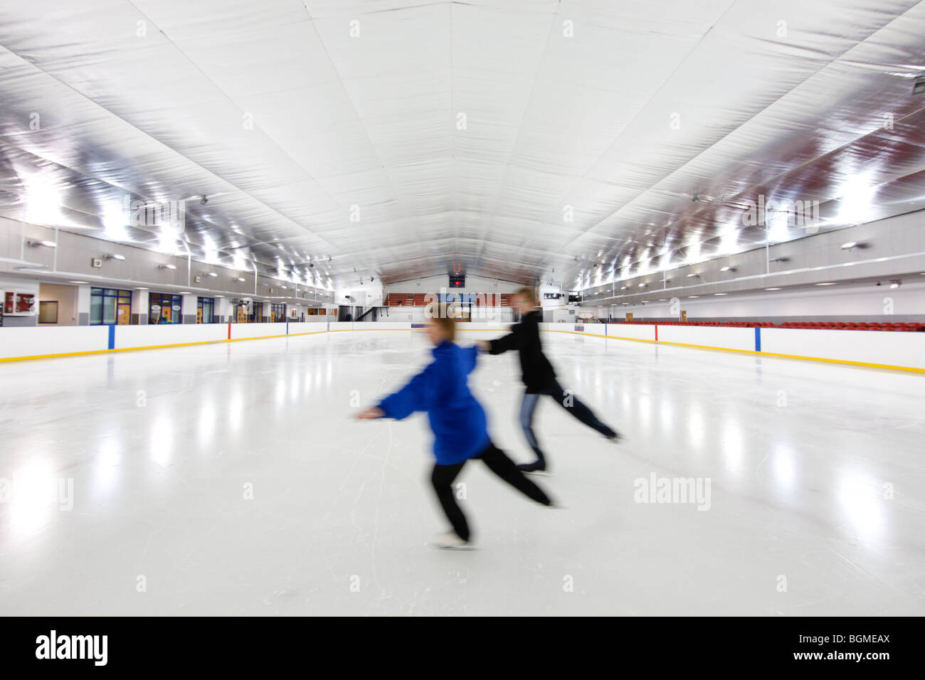 Roller skating rink jakarta - Blue Ice Solihull Ice Rink Solihull Stock Image