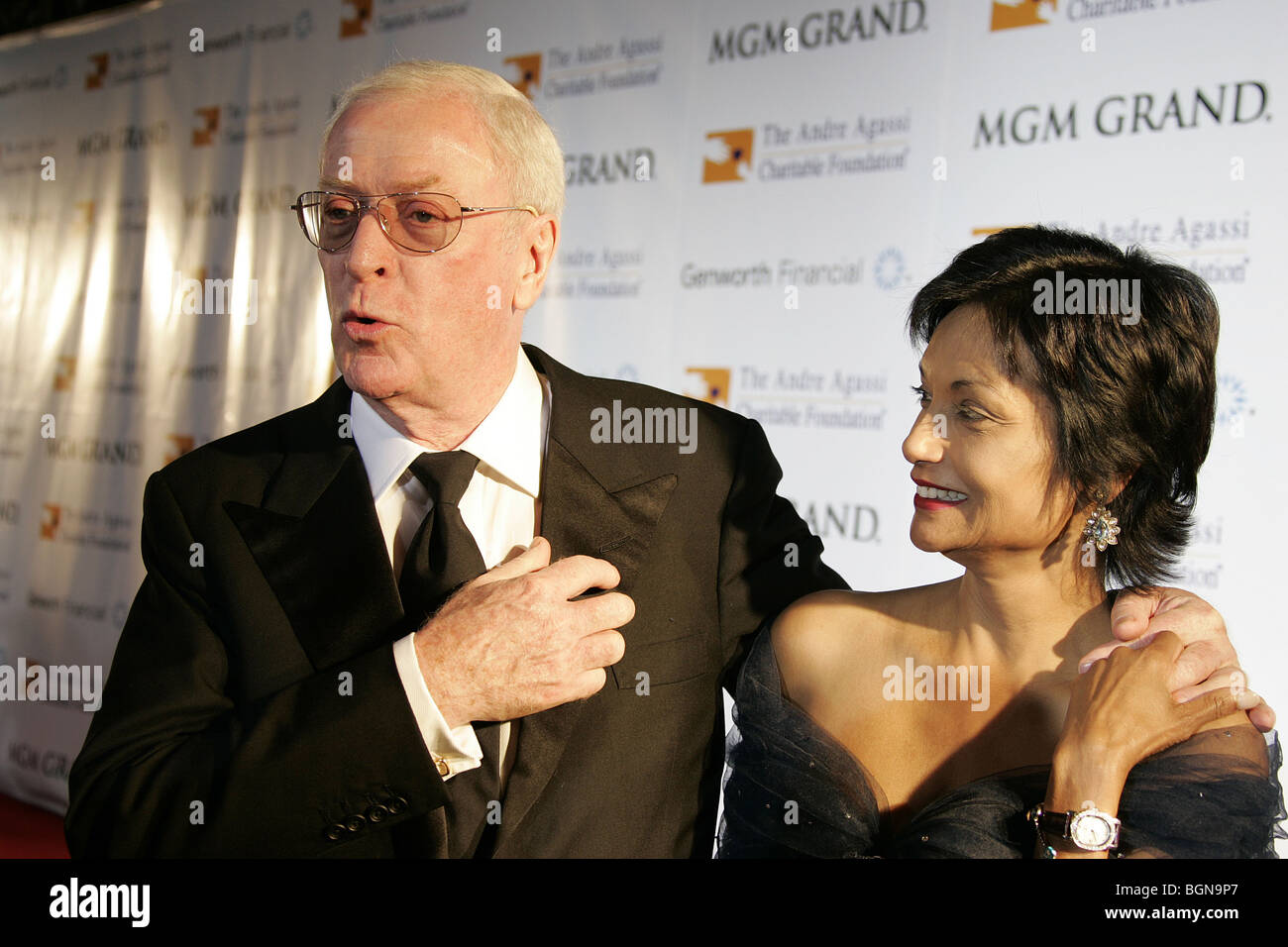 michael caine amp shakira caine 11th andre agassi grand slam