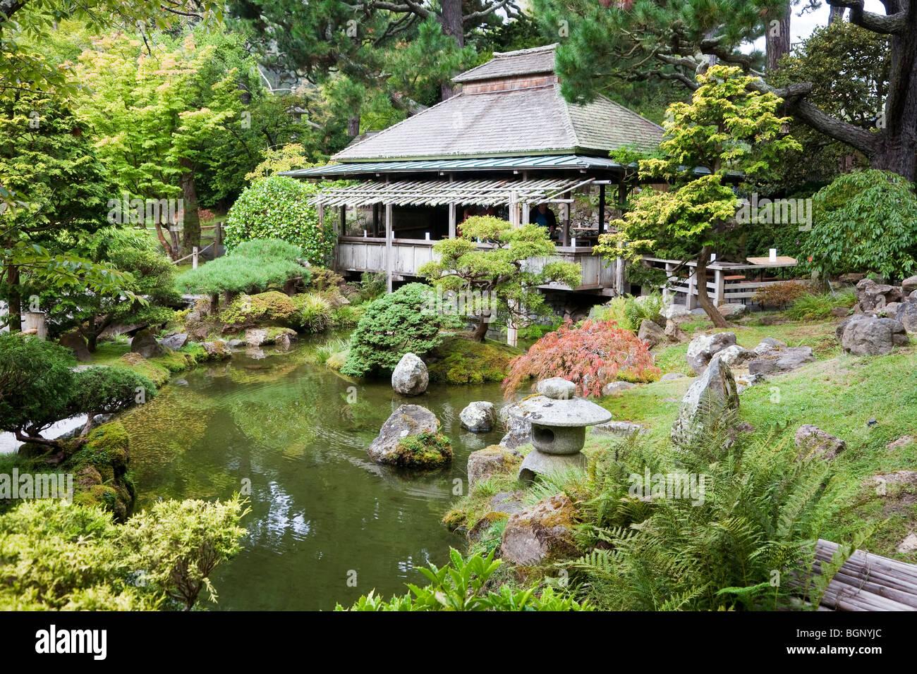 Tea House Japanese Tea Garden Golden Gate Park San Francisco In Stock Photo Royalty Free