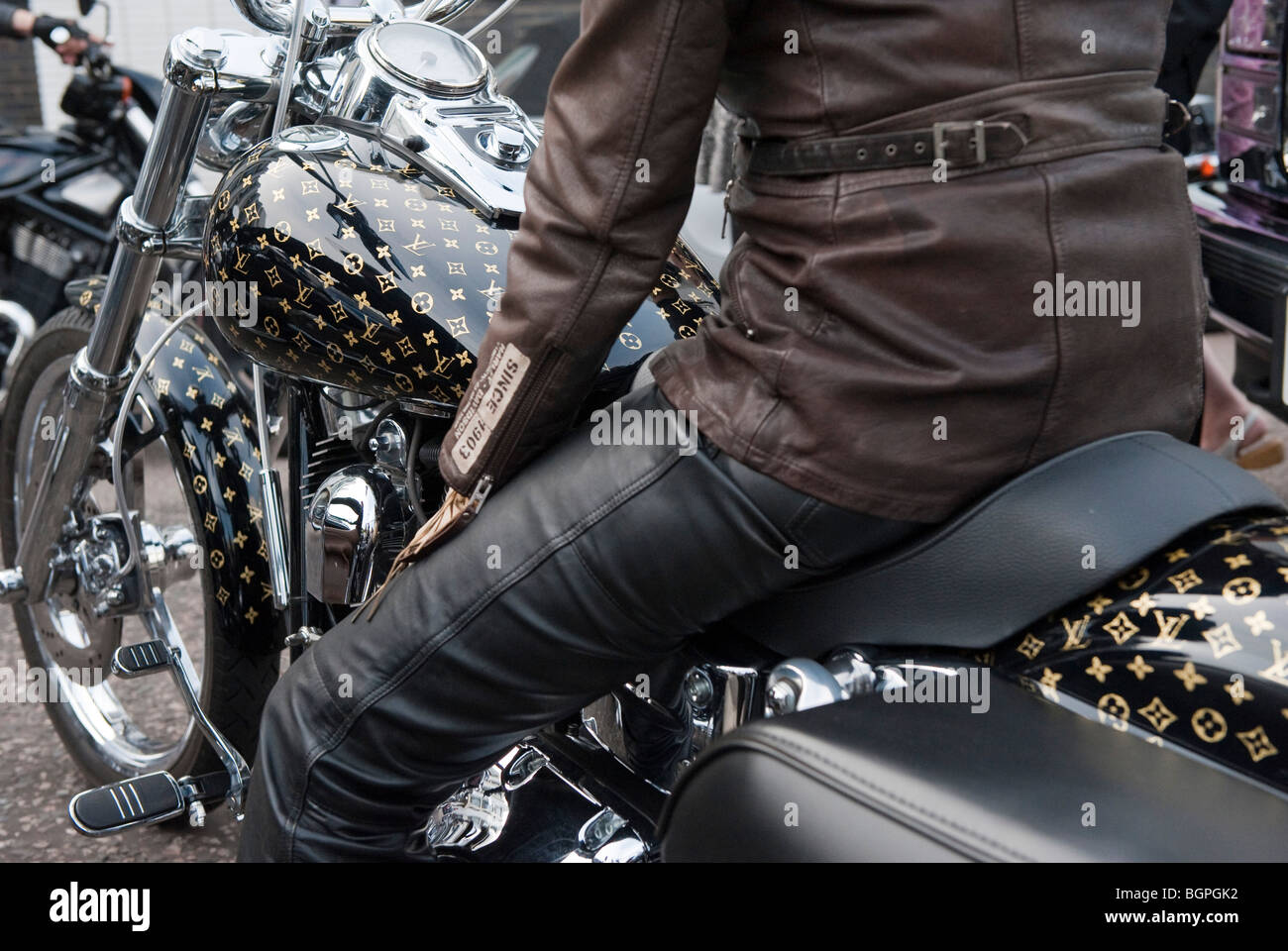 louis vuitton harley davidson motorcycle stock photo royalty free image 27540886 alamy. Black Bedroom Furniture Sets. Home Design Ideas