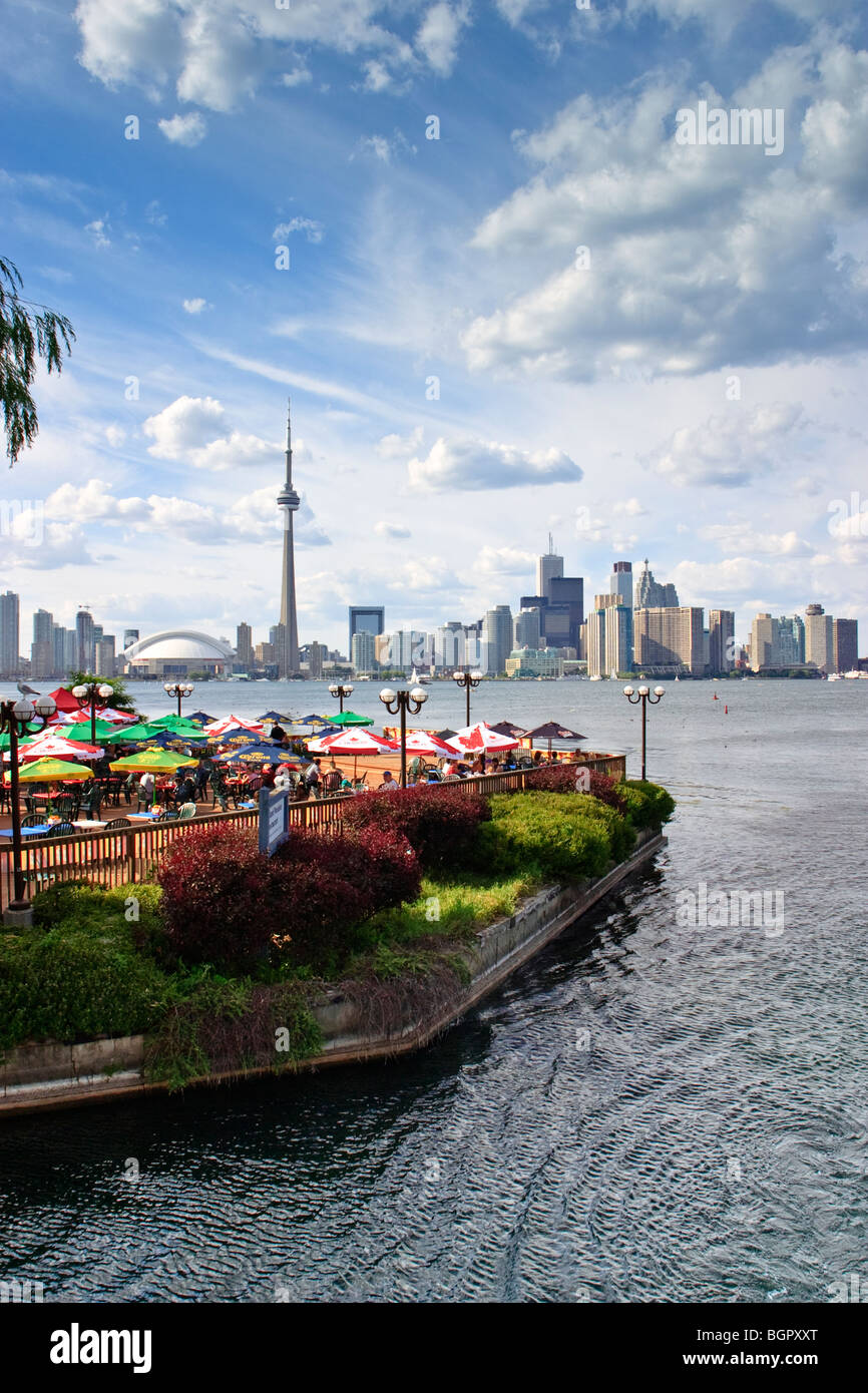 Toronto Downtown Panorama View From Centre Island