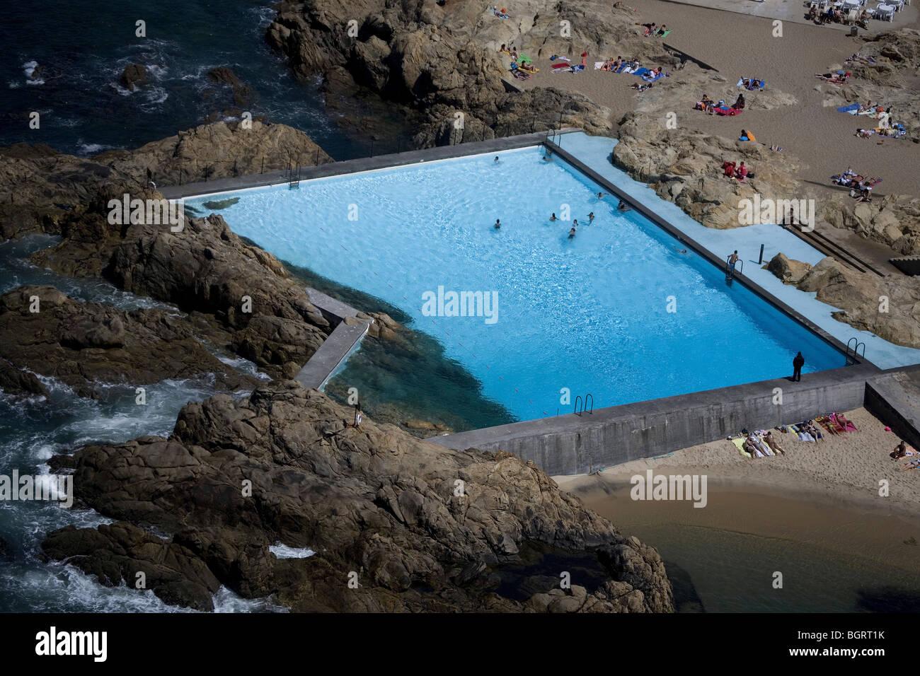 Leca Swimming Pool Matosinhos Porto Portugal 1966 Stock Photo Royalty Free Image 27568623