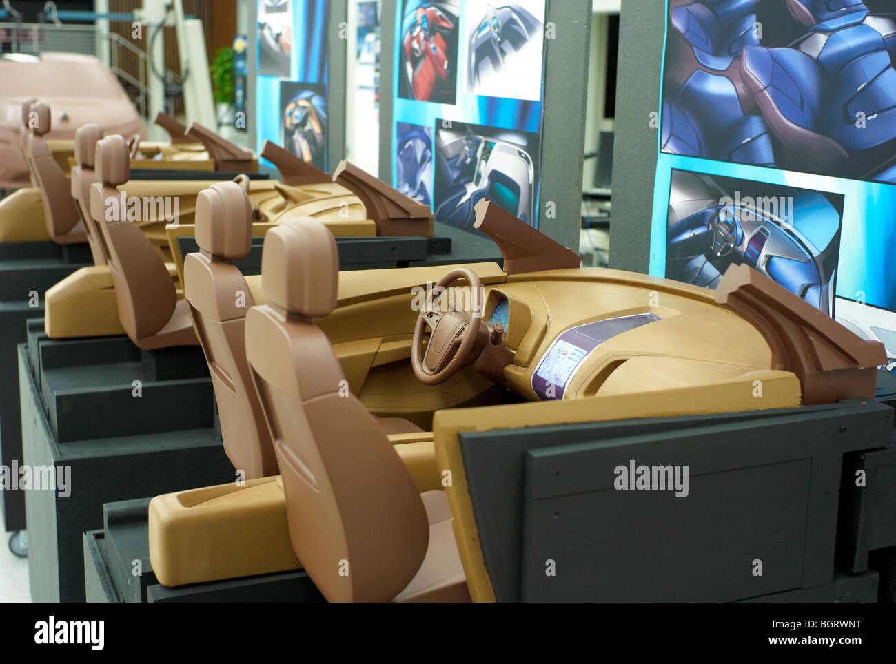 clay mock ups of chevy volt interiors inside the gm tech center stock photo 27569972 alamy. Black Bedroom Furniture Sets. Home Design Ideas