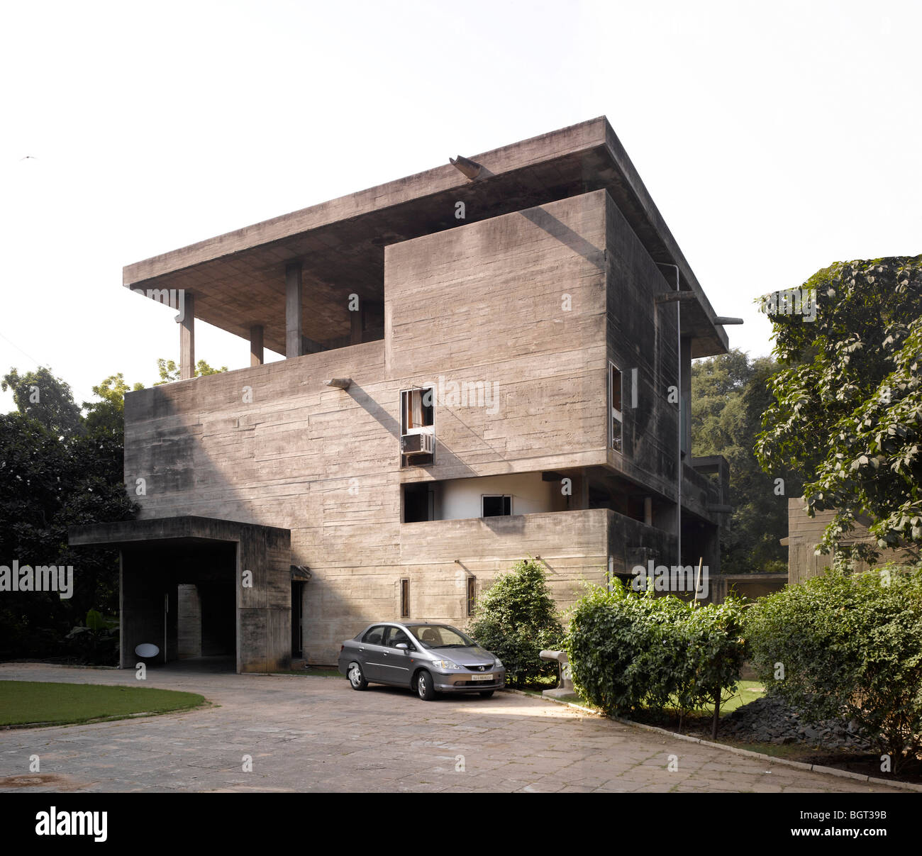 The Shodan House Ahmedabad India Le Corbusier Stock