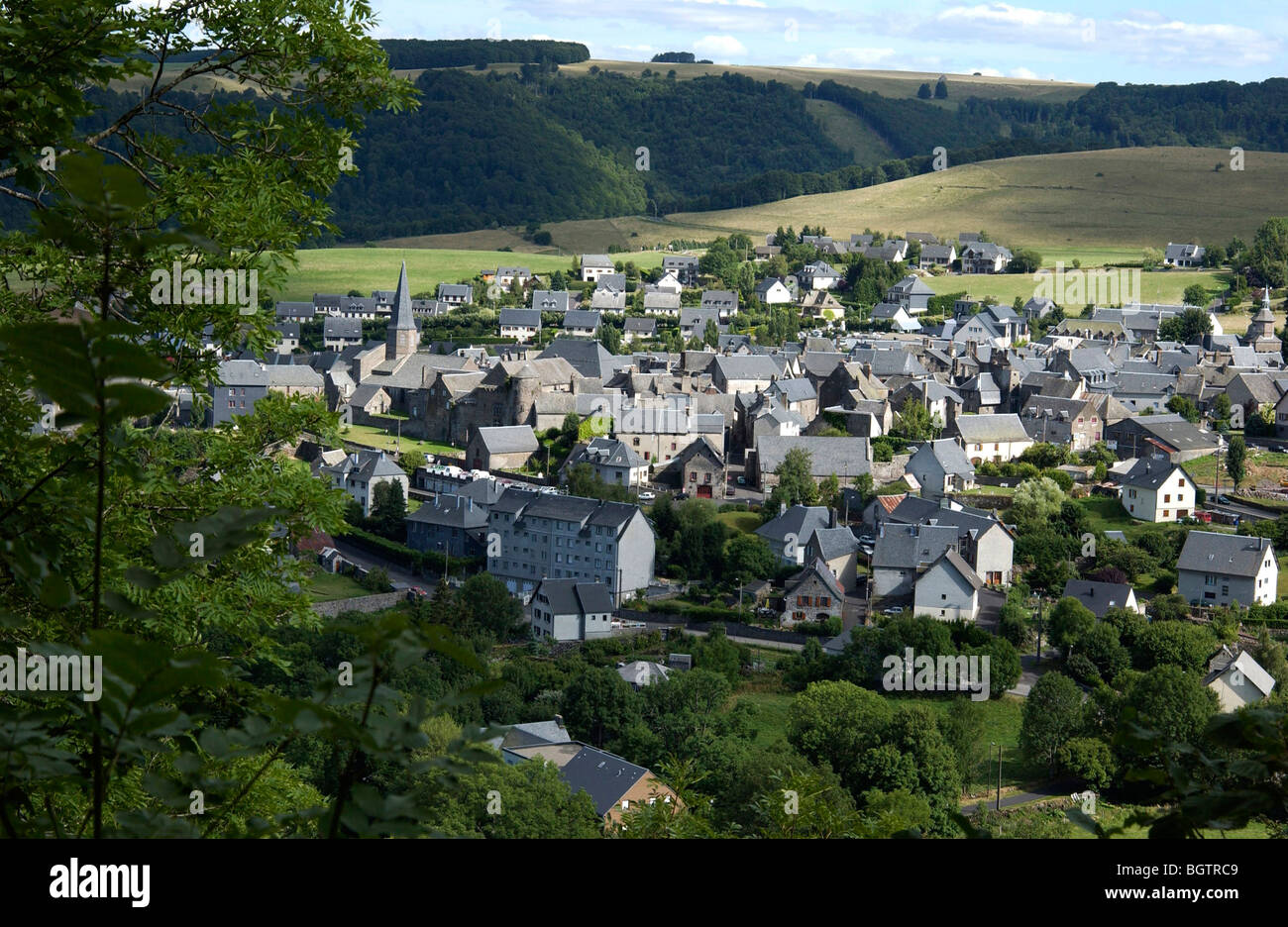 Village of besse en chandesse auvergne france stock - Office du tourisme besse en chandesse ...